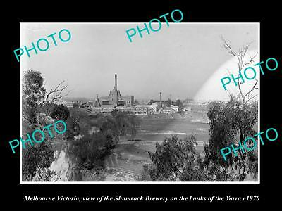 OLD LARGE HISTORIC PHOTO OF MELBOURNE VICTORIA, THE SHAMROCK BREWERY c1870