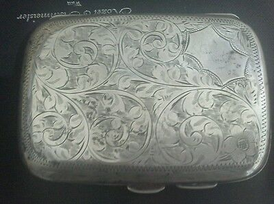 Chester Sterling Silver Cigarette or Card Case