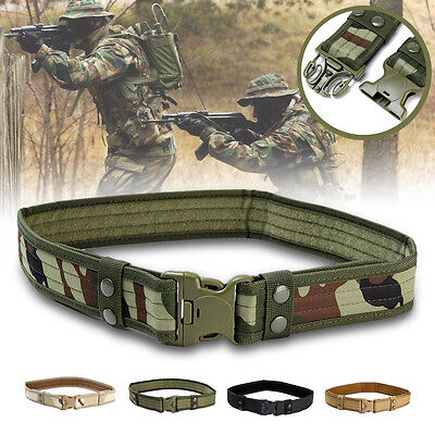 """2"""" Men's Tactical Combat Train Police Duty Military Army Belt Outdoor Security"""
