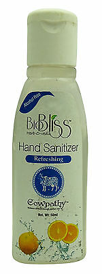 Cowpathy Aromatic Cow Thearpy Bio Bliss Hand Sanitizer Herbal Energizing -1.6 Oz