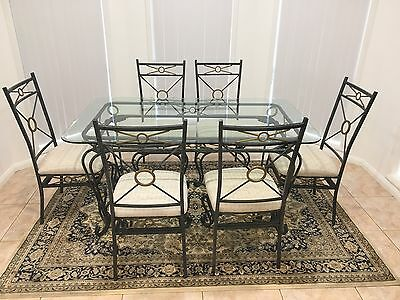 Glass Dining Table 6 Chairs, Bar Stools, Coffee Table And Bookshelf!