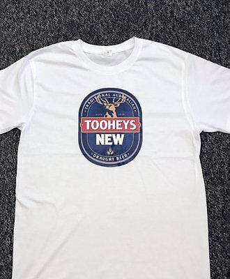 Tooheys Nsw New Draught Beer T Shirts/ T-Shirts / T Shirt White,black,grey S-2Xl