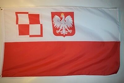 Poland Air Force In Britain And France Garage Hangar Basement Flag 3x5
