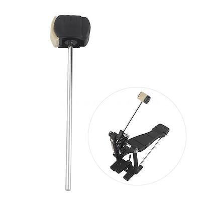 High-quality Bass Drum Pedal Beater Wool Felt Stainless Steel Handle Parts Y4Z2