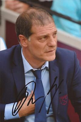 WEST HAM: SLAVEN BILIC SIGNED 6x4 ACTION PHOTO+COA