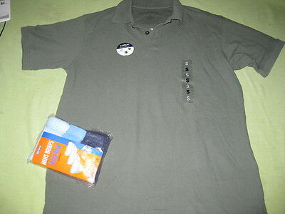 Mens New Polo Shirt & 3 Pack Of Briefs