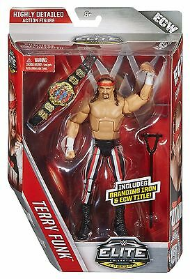 Terry Funk - Includes Branding Iron And ECW Title - Elite 41 - WWE Action Figure
