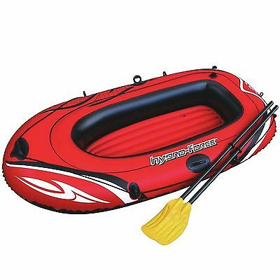 "Hydro Force Inflatable Boat Dinghy 1 Person Pool Raft Paddle Oars Set 62""x40"""