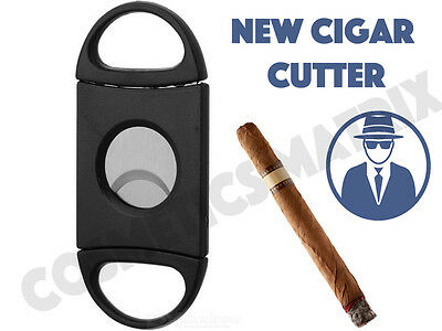 New Pocket Stainless Steel Double Blades Cigar Cutter Knife Scissors Tobacco