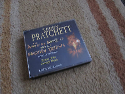 Terry Pratchett THE AMAZING MAURICE AND HIS EDUCATED RODENTS audio book on 3 CDs