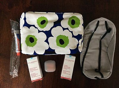Marimekko Finnair Business Class Amenity Bag Clarins Lip Balm - Brand New