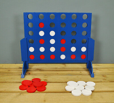 Deluxe Wooden 4 in a Row Style Garden Game by Selections