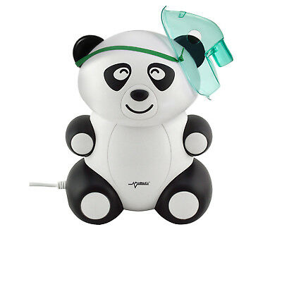 Inhaliergerät Kinder Set Inhalator Inhalierer Vernebler Aerosol Therapie Panda