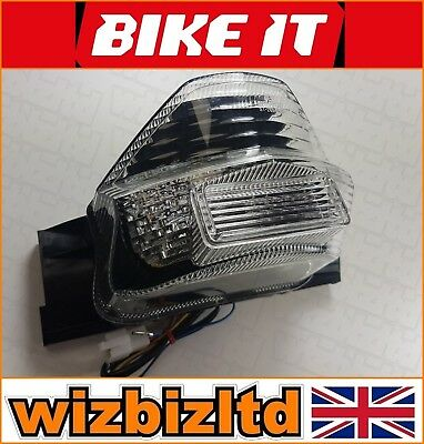 LED Clear E-Marked Stop Rear Light With Indicators Suzuki GSX1400 01> LEDS096