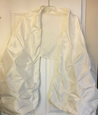 Classy Taffeta Ivory/Cream Bridal Gown Wrap, Excellent Condition