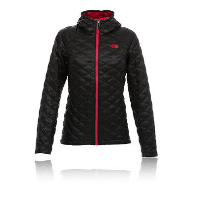 The North Face Thermoball Womens Black Full Zip Long Sleeve Hoody Jacket Top L