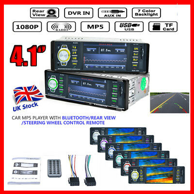 """4.1"""" Android 1 DIN Autoradio Car Stereo Bluetooth MP5 Player FM AUX W/Remote USB"""