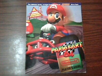 OFFICIAL MARIO KART 64 PLAYER'S GUIDE W/ BUMPER STICKERS Nintendo 64 N64
