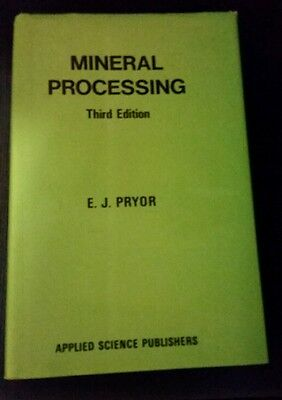 MINERAL PROCESSING 3rd Edition Hardcover 1983