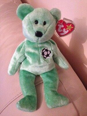 ULTRA RARE Kicks TY Beanie Baby Retired With Miss Printed Tags