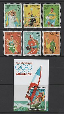 CAMBODIA 1996 OLYMPIC GAMES, ATLANTA (3rd issue) SET & MIN SHEET *FINE MNH*