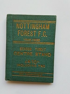 Nottingham Forest FC season ticket 1949-50
