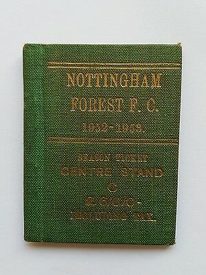 Nottingham Forest FC season ticket 1952-53