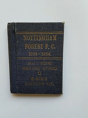 Nottingham Forest FC season ticket 1953-54