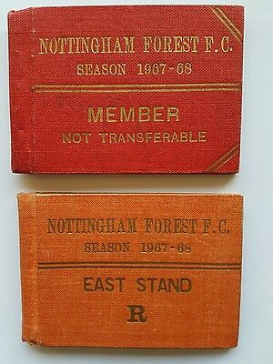Two Nottingham Forest FC season ticket books 1967-68