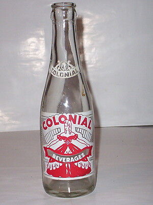 "1956-""colonial Beverages""-Bethel Park, Pennsylvania 7 Ounce Soda Bottle"