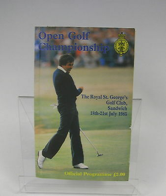 1985 Official Programme for the Open Golf Championship at Sandwich