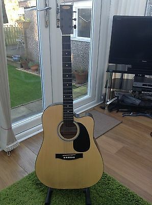 Stagg SW203CE-N Electro - acoustic Guitar.