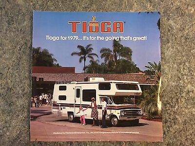 Vintage 1979 Tioga Motorhome Camper Rv Dealer Brochure Advertising