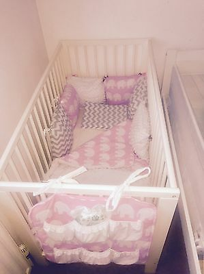 Ikea Cot Bed With Mattress And Bedding