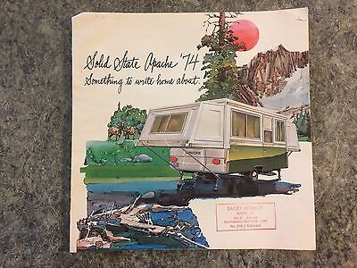 Vintage 1974 Apache Popup Camper Rv Dealer Brochure Advertising