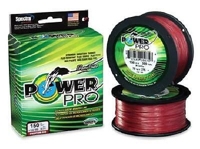 Power Pro Spectra Braid Vermilion Red, 150 lb 300 yards, NEW