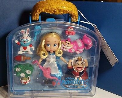 Disney Store ALICE IN WONDERLAND mini animators' collection DOLL play set  5""