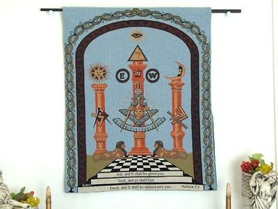Masonic Past Master'S Wall Hanging Tapestry Fraternal