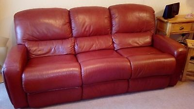 2 Piece Suite Sofa and Chair Tan Leather