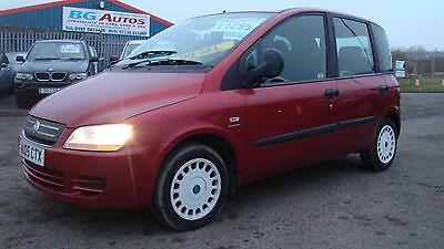 05 Fiat Multipla 1.9 Jtd Dynamic 6 Seater Met Red