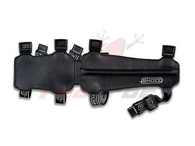 New Shocq Archery Junior Long Armguard Arm Guard Black PU Leather Adjustable