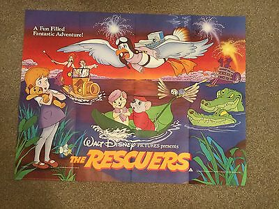 Original Vintage The Rescuers Film Movie Poster 1984 UK Quad 40x30 Disney