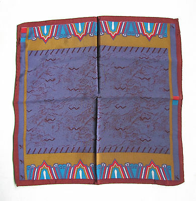 Authentic K KRIZIA Gavroche Pocket Square Pochette 30 x 30 cm *