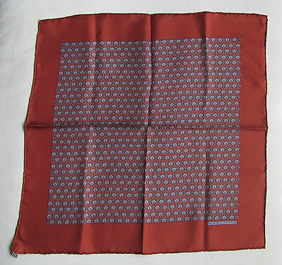 Authentic HERMES Gavroche BORDEAU Hermès Pocket Square Pochette Carré *