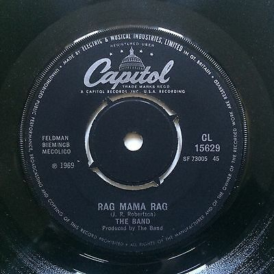 THE BAND - RAG MAMA RAG - Orig UK Capitol 7""
