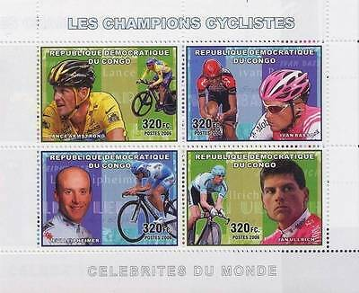 Congo 2006 Famous Cyclists S/S MNH CYCLING, SPORTS