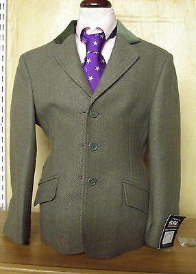 Shires Children's Malvern Tweed Green show Jacket Size 26