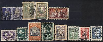 Lietuva Lot Of 13 Used Stamps
