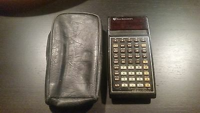 Texas Instruments TI-58 Programmable Calculator Solid State for parts  + sleeve