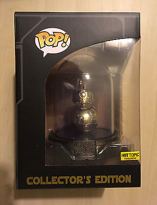 FUNKO POP STAR WARS Collector's Edition Hot Topic Exclusive BB-8 GOLD